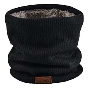 NovForth Neck Warmer Double-Layer Fleece - Best Scarves for Winter: Elastic for perfect fit