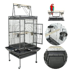 Nova Microdermabrasion 61/68 Inches Large Bird Cage Play Top - Best Bird Cage for Canary: A lot of extras