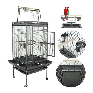 Nova Microdermabrasion 61/68 Inches Large Bird Cage - Best Bird Cage for Cockatiel: Enjoy better interaction