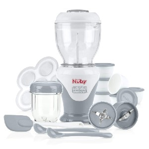 Nuby Mighty Blender with Cook Book - Best Blender Baby Food: Contains Everything You Need to Make Tasteful Baby Food