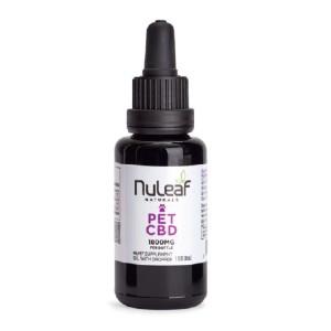 Nuleaf Naturals Full Spectrum CBD Pet Oil - Best CBD for Dog Anxiety: Whole-Plant Extract