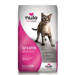 Nulo Freestyle Chicken & Cod Recipe Grain-Free Dry Cat & Kitten Food - Best Food for Cat to Gain Weight: Chicken and the Fish Recipe