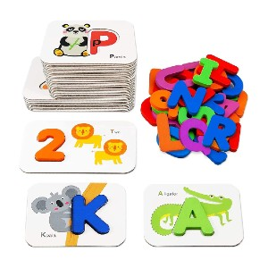 Gojmzo Number and Alphabet Flash Cards  - Best Flashcards for 2 Year Olds: Easy to store