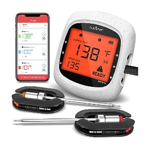 NutriChef PWIRBBQ80 - Best Grill Thermometer for Big Green Egg: Full wireless connection