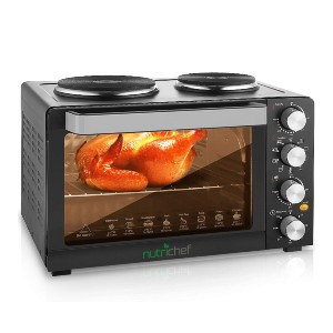 NutriChef Kitchen Convection Oven - Best Electric Oven for Baking: Versatile Oven with Timer