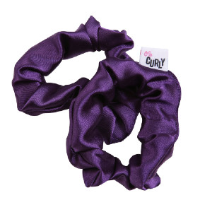 O So Curly Satin Scrunchie - Best Scrunchies for Curly Hair: Pineapple Your Hair Throughout the Day