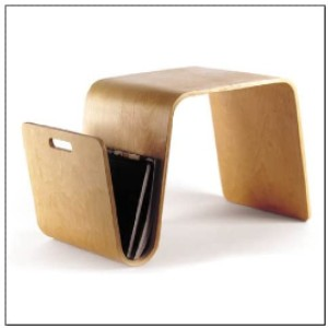 OFFI Mag Table in Birch  - Best Magazine Holders: Three in one