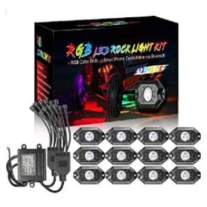 OFFROADTOWN RGB Rock Light Kits - Best LED Truck Bed Lights: Control via your smartphone!