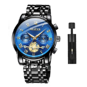 OLEVS Chronograph Wristwatches - Best Waterproof Watches: Men's Wrist Watch Analog Display High Quality