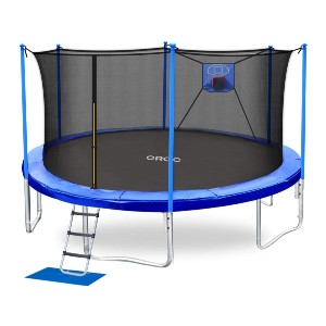 ORCC  Trampoline 15 FT Basketball Trampoline - Best Home Trampoline for Adults: Holds up to 400 lbs weight