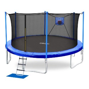 ORCC Trampoline 15 FT Basketball Trampoline  - Best Trampoline with Basketball Hoop: For mini basketball championship