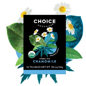Choice Organics Organic Chamomile Tea - Best Tea to Drink at Night: Tranquil and Calming