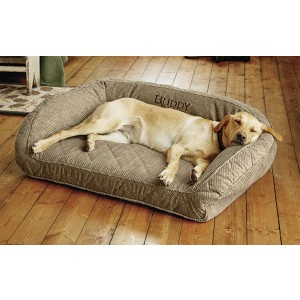 ORVIS MEMORY FOAM BOLSTER DOG BED - Best Dog Beds for Medium Dogs: Bed with Therapeutic Memory Foam