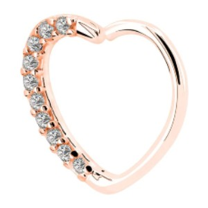 OUFER Body Piercing Jewelry Heart  - Best Jewelry for Daith Piercing: Lovely with heart