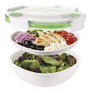 OXO Good Grips Leakproof Salad Container - Best Food Storage Container: Large capacity and does not leak