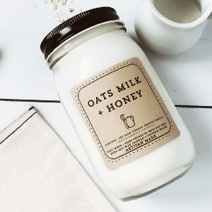 POTOandBERRco Oatmeal Milk + Honey Candle  - Best Scented Candles: Mouth-watering aroma