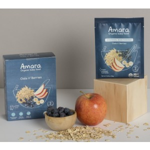 Amara Organic Baby Food Oats n' Berries - Best Organic Baby Foods: Homemade and Made Possible