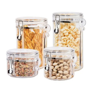 Oggi 4pc Clear Canister Set - Best Storage Containers for Kitchen: Keeping your snack crunchy