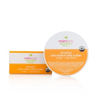 Mambino Organics Oh Baby! Anti-Stretch Belly Butter - Best Stretch Mark Cream: Helps with the Appearance of Stretch Marks