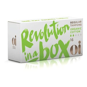 Oi Organic Initiative Regular Tampons - Best Organic Tampons for Beginners: Best budget-friendly pick