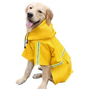 Okdeals Dog Raincoat Leisure Waterproof - Best Raincoats for Big Dogs: Well made and durable