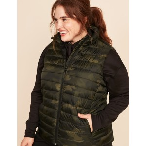 Old Navy Narrow-Channel Nylon Plus-Size Puffer Vest - Best Down Vests for Women: Standing Collar Vest