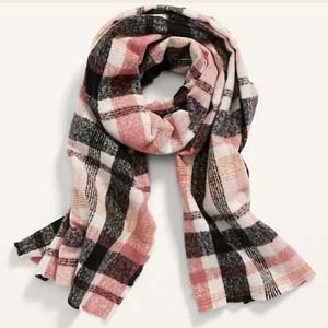 Old Navy Soft-Brushed Flannel Scarf for Women - Best Scarves for Winter: Large size for extra warmth