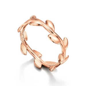 Tiffany & Co.  Olive Leaf Band Ring  - Best Jewelry for 18th Birthday: Symbolize peace and wealth