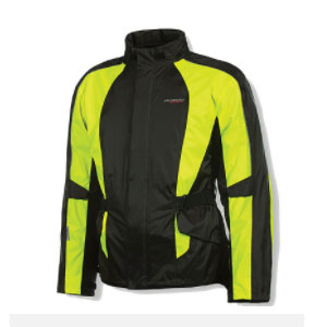 Olympia New Horizon Rain Jacket - Best Raincoat for Motorcycle Riders: Micro Fiber Lined Collar for Added Comfort