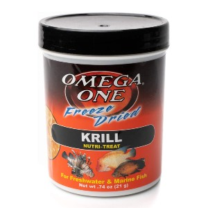Omega One Freeze Dried Krill - Best Fish Food for Mollies: Rich in Vitamins and Minerals