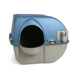 Omega Paw Premium Roll 'n Clean Self Cleaning Cat Litter Box - Best Self Cleaning Litter Box for Multiple Cats: Easy to Use and Cleans In Seconds