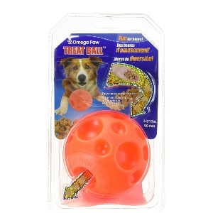 Omega Paw Authentic Tricky Treat Ball - Best Dog Toys for Boredom:  Ball for Toss and Fetch Play