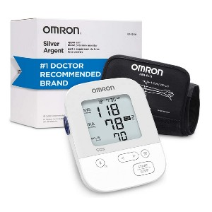 Omron Silver Blood Pressure Monitor - Best Blood Pressure Monitors for Small Arms: Connect with Alexa