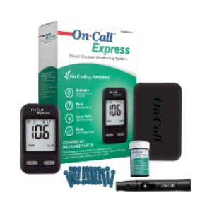 On Call Express Diabetes Testing Kit- Blood Glucose Meter - Best Glucometer for Gestational Diabetes: Best bang for your bucks