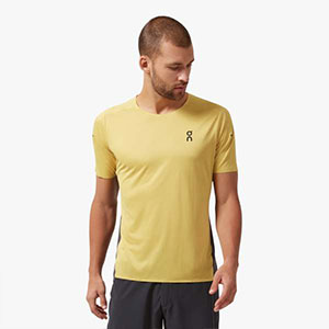 On Performance-T - Best Men's Running Shirt: Running shirt with sweat-wicking material