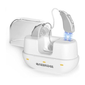 ONEBRIDGE Rechargeable Hearing Aids  - Best Hearing Aids for Severe Hearing Loss: Save money on batteries