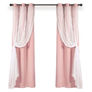 Ophelia & Co. Busselton Solid Blackout Thermal Curtain Panels (Set of 2) - Best Curtain to Block Light: 2 Layers Curtain