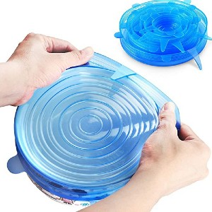 Orblue Silicone Stretch Lids - Best Leftover Food Storage Containers: Just stretch the lids