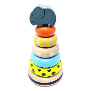 Orcamor Organic Wooden Stacking Rings Toy - Best Wooden Stacking Toys: Great gender-neutral option