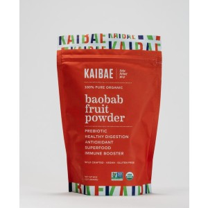KAIBAE Organic Baobab Powder - Best Prebiotic Fiber Supplements: Naturally Sweet and Tangy