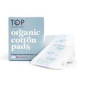 The Organic Project Organic Cotton Pads - Best Organic Pads for Tweens: Plastic-free
