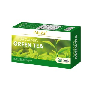 iMoZai Organic Green Tea - Best Tea for Weight Loss: Individually Wrapped with Total 100 Count