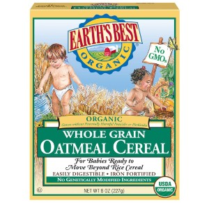 Earth's Best Organic Organic Infant Oatmeal Cereal - Best Organic Baby Foods: Made with Whole Grains