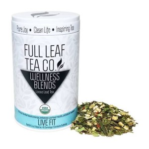 Full Leaf Tea Company Organic Live Fit Tea - Best Tea to Drink in the Morning: A Delicious Citrus Taste