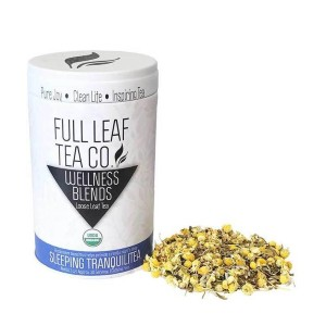 Full Leaf Tea Company Organic Sleeping TranquiliTea - Best Tea to Drink at Night: Calm Your Body and Mind