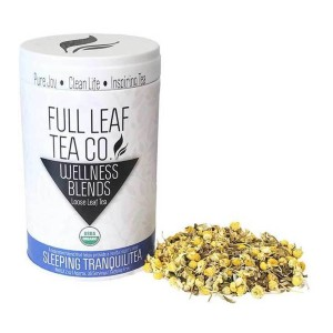 Full Leaf Tea Company Organic Sleeping TranquiliTea - Best Tea for Sleep: Formulated to Calm Your Body and Mind