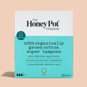 The Honey Pot Organic Super Tampons - Best Organic Tampons for Heavy Flow: Strong, natural protection