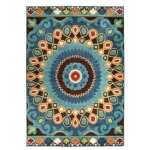 Orian Rugs Veranda Indoor/Outdoor Indo-China Area Rug - Best Rug for Under Kitchen Table: Holds up against everything