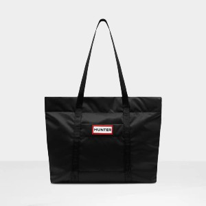 HUNTER Original Nylon Tote: Black - Best Nylon Tote Bags: Water-Resistant Lining for Internal Protection