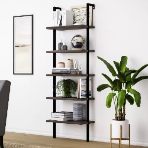 Orren Ellis Zachary Steel Ladder Bookcase - Best Bookcases for Small Spaces: Minimalist Mount Bookcase